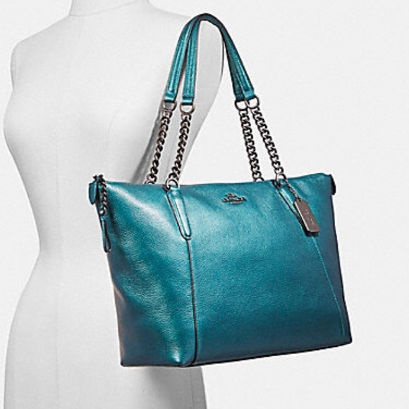 website for discount strong packing top design Hot Color! Coach Ava Chain Tote